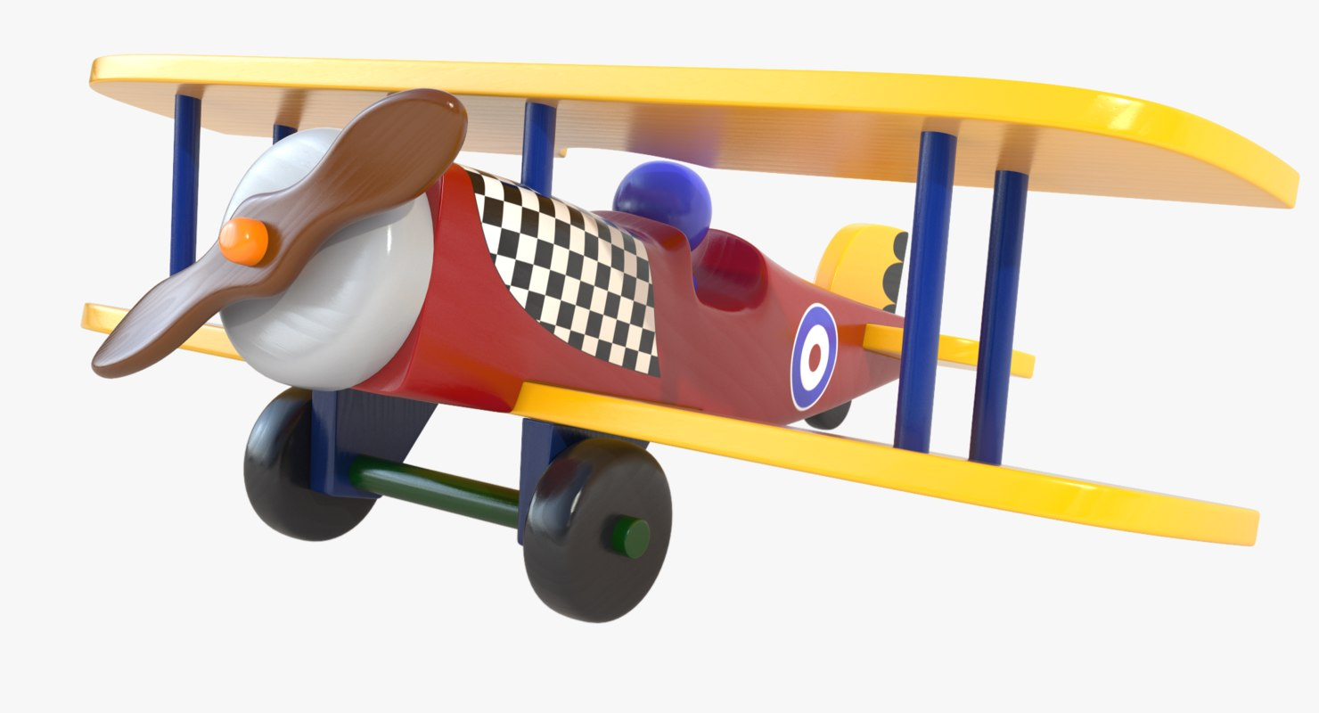 max painted wood wooden airplane toy