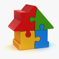 house puzzle 3d model
