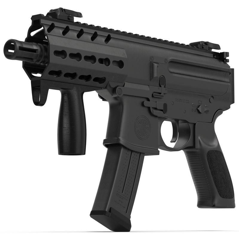 machine pistol sig sauer 3d model