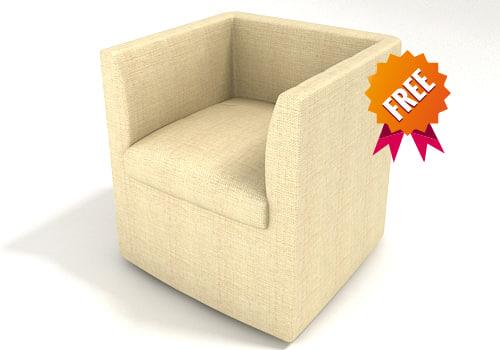 free armchair chair 3d model