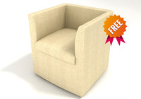 free armchair chair 3d model
