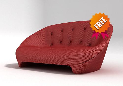 free ploum sofa ligne roset 3d model