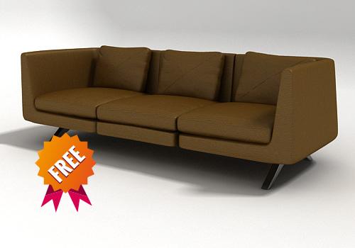 free 3ds model modelled hepburn modular sofa
