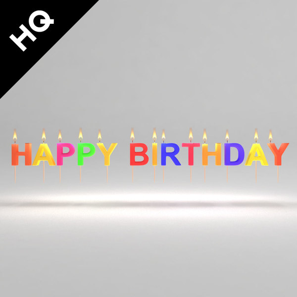 birthday candle 3d max
