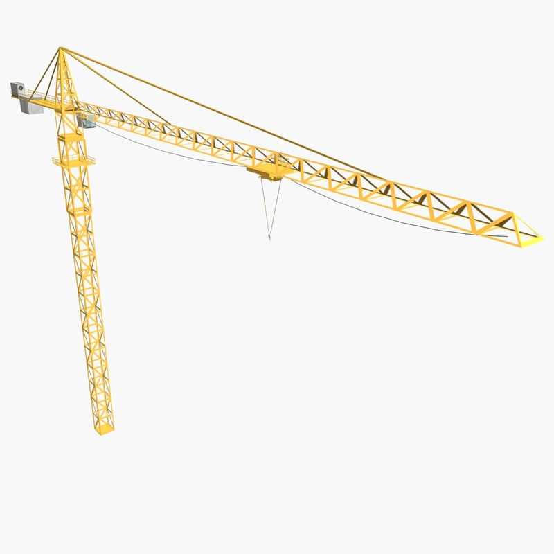 3ds max industrial tower crane