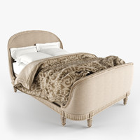 belle upholstered bed 3d model