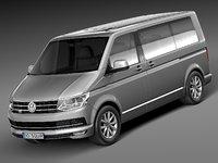 volkswagen transporter multivan 3d max