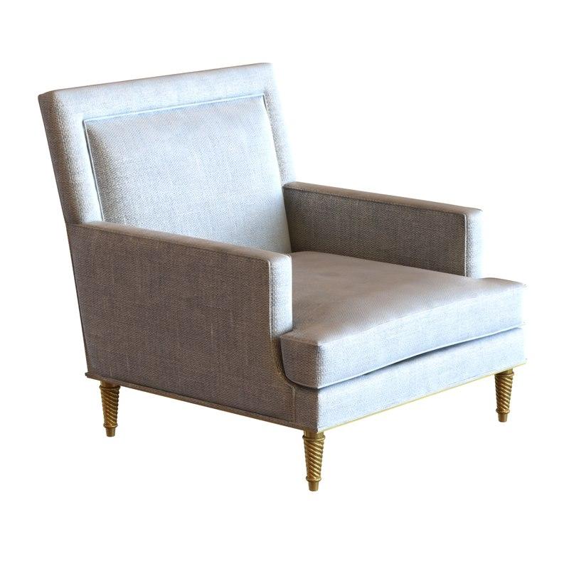 classic bergere armchair 3d model