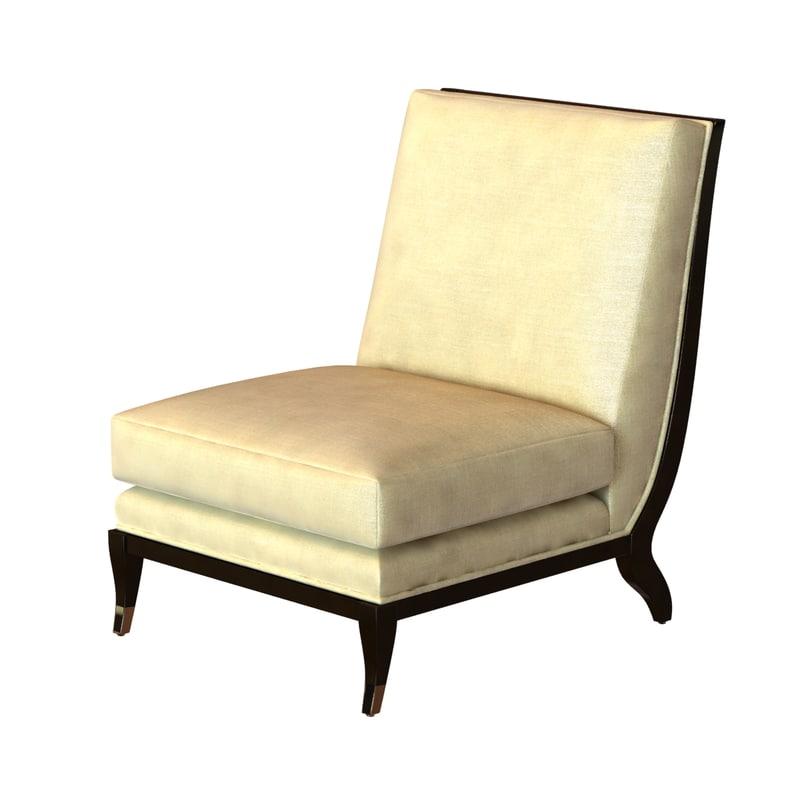 chair armless chaise apollon 3d max