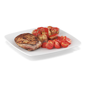 3ds max steak baked potatoes