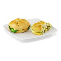 sandwiches kaiser roll 3d x