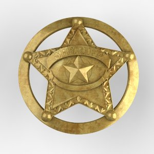 badge sheriff 3d max