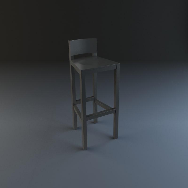 moooi avl bar stool 3d max