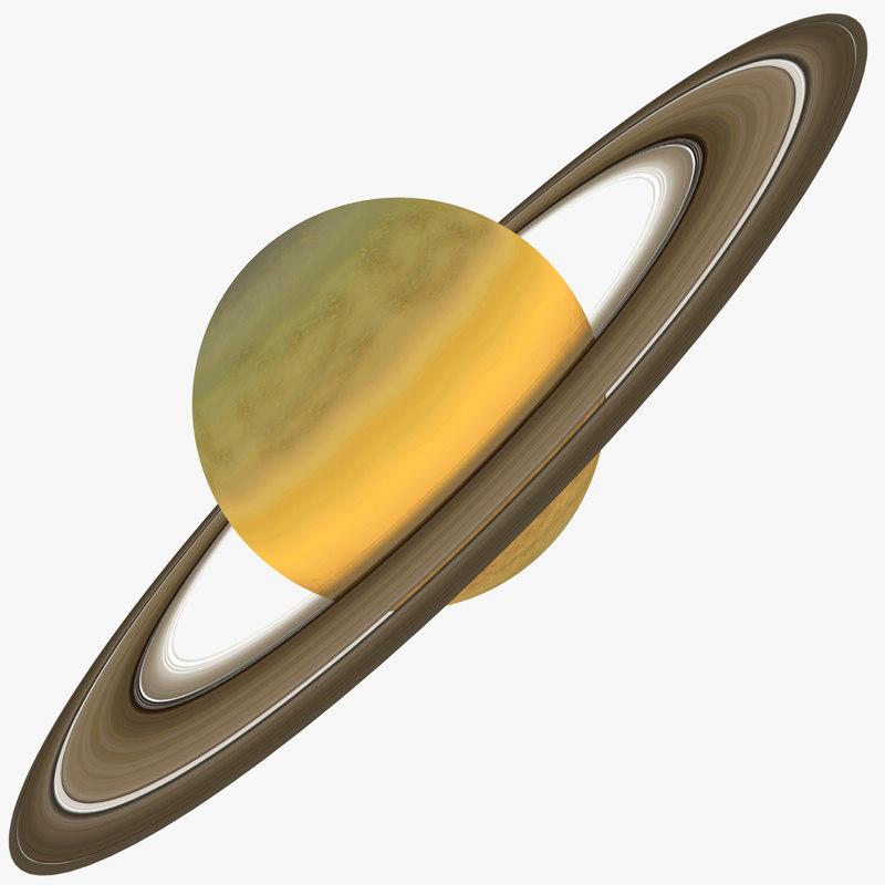 saturn planet 3d model