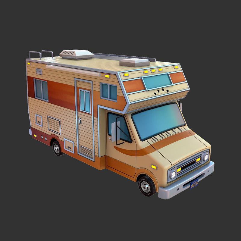 dodge motorhome 3d model