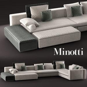 3d model yang modular sofa