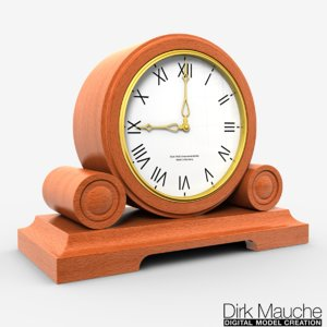 3d model shelf clock