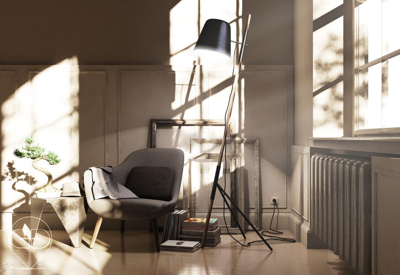 chair books frames 3d model