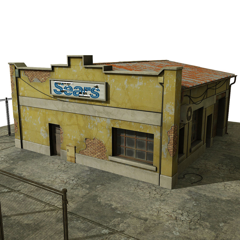 warehouse old house 3d max