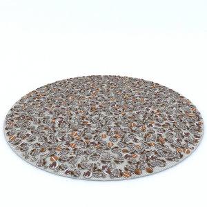 beliani carpet 3d max