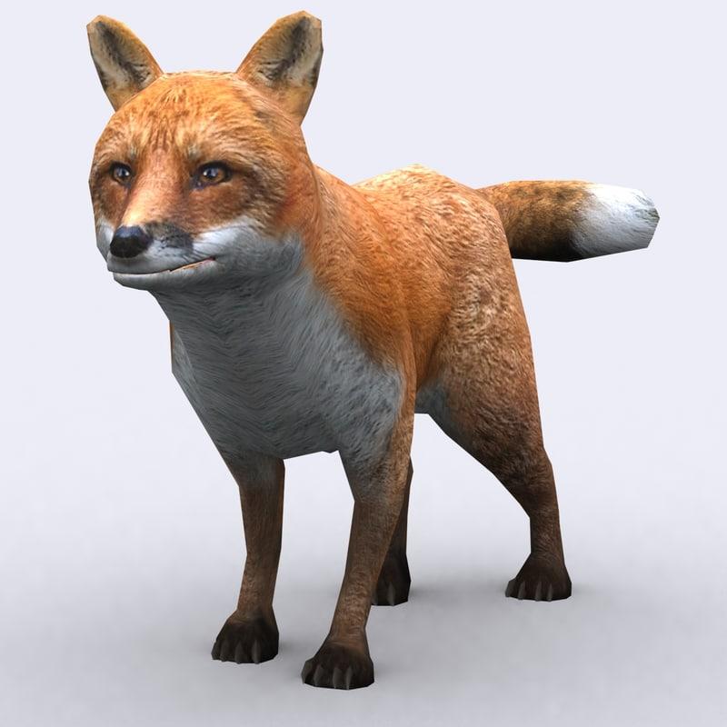 wild animal - fox 3d model