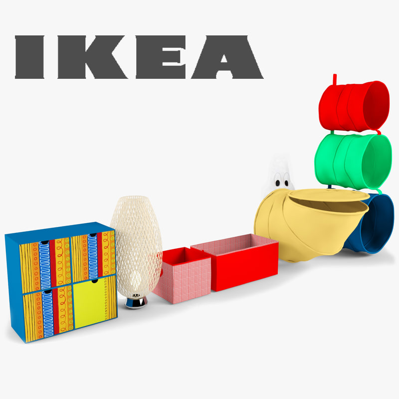 3d model of ikea furniture nursery