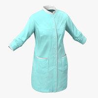 female surgeon dress blood 3d model