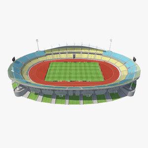 3d model royal bafokeng stadium modeled