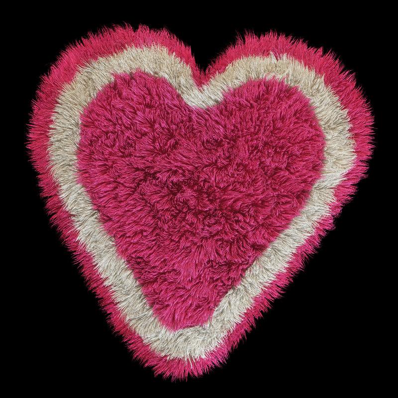 3d model carpet heart