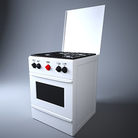 gas oven 3d model