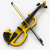 3d model electric violin