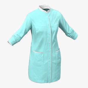 female surgeon dress 5 3d c4d
