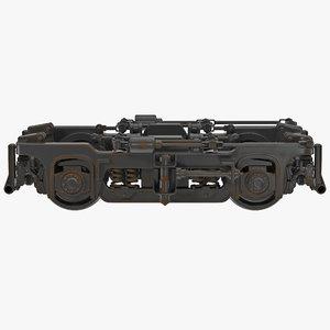 3d train wheels 3 modeled model