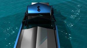 free boat slanear productions 3d model