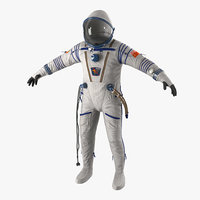 Russian Space Suit Sokol KV2 3D Model
