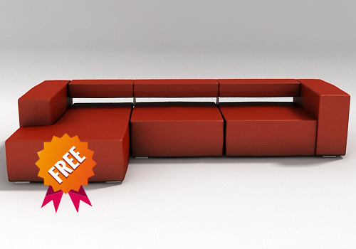 free max mode sofa modelled