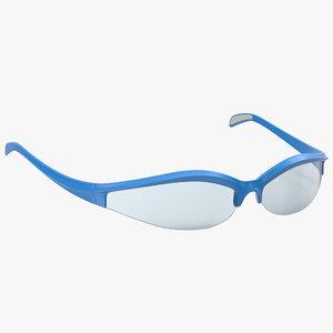 3d model sport glasses 3 modeled