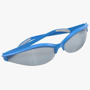 3d sport glasses 3 folded model