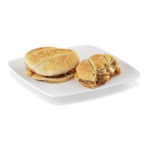 3dsmax sandwiches fried chicken