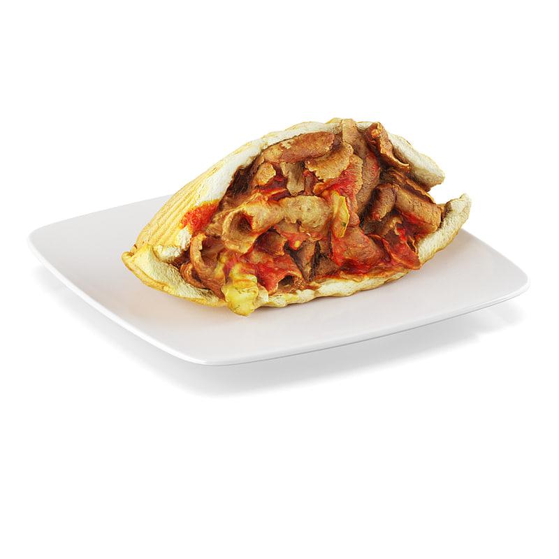 doner kebab 3d max