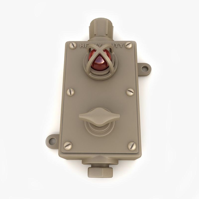 vintage industrial switch 03 3d obj