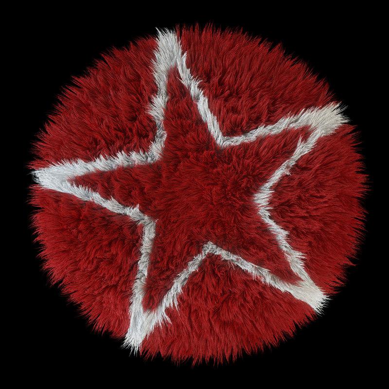 carpet rug star 3d model