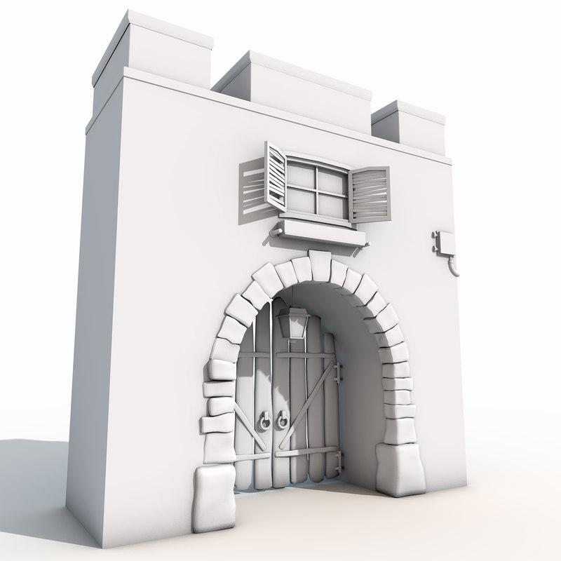 old gate 3d model