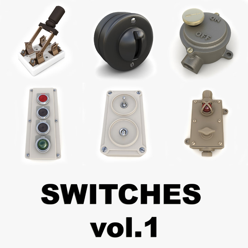 3d vintage switches vol 1