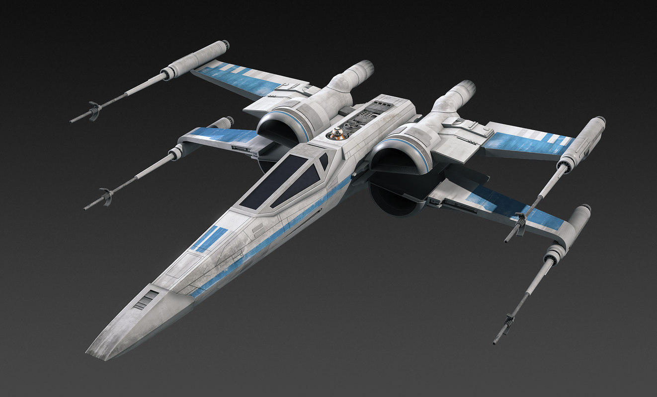 resistance x wing fighter star 3d obj. Black Bedroom Furniture Sets. Home Design Ideas