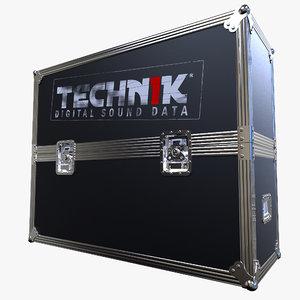 flightcase case 3d 3ds