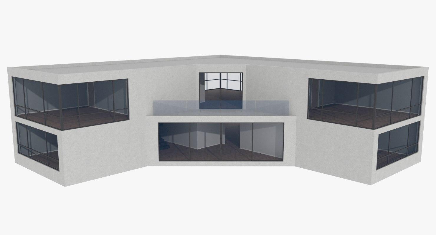 3d modernist interiors model