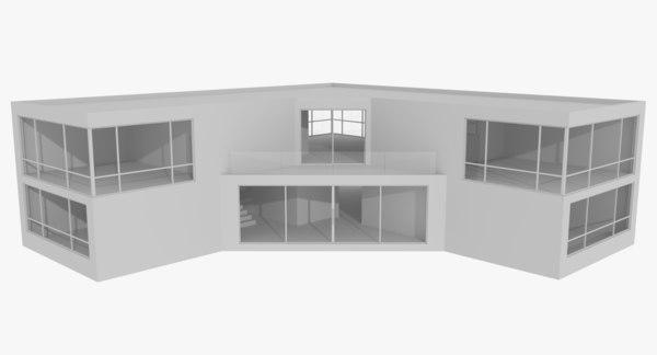 3d modernist interiors