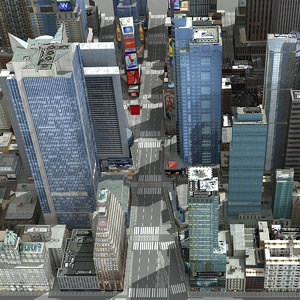 3d new york square time model