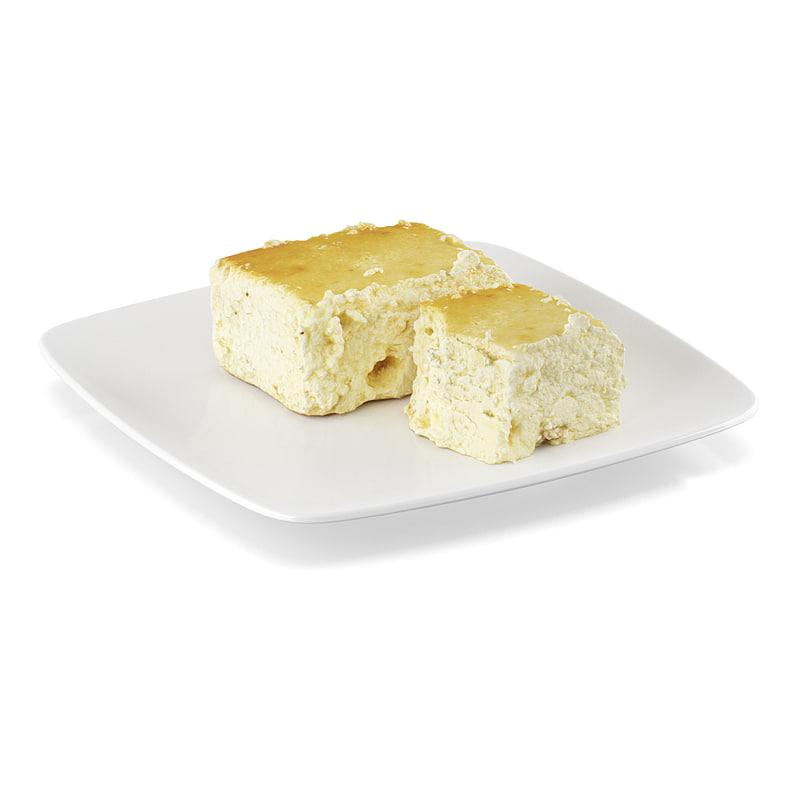 3d model cheesecake cheese cake